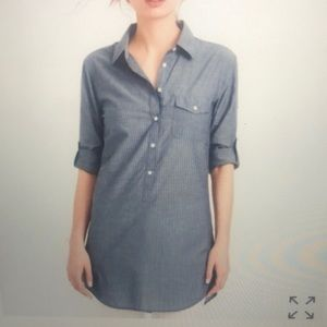 J. Crew Chambray Button-Up Popover Tunic